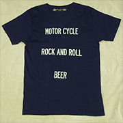 "HTS-161【HAMATOLA!】""Motorcycle-R&R-Beer"" V-Neck T-Shirts"